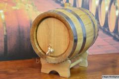 Barrels oak for wine, rum, kvass from 3 liters