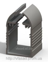 Профиль для акрилайтов черный( под акрил-7,8 мм.)