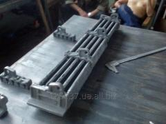 Grid-irons for TChZM fire chambers with a set of