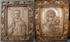 """Wooden icons, wood carvings - """"wedding"""