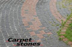 "Sidewalk stone blocks ""A stone carpe"