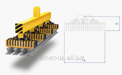 Electromagnet of Dimet of a rectangular series for