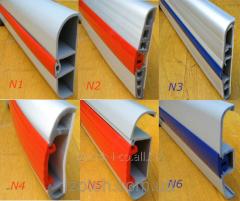 Profile (bumper) for refrigerating show-windows