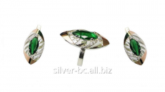 Jeweler set with an emerald 253, Bila Tserkva