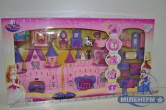 Замок с мебелью, куклами SG-2912N