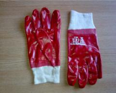Gloves maslobenzostoyky MBS red
