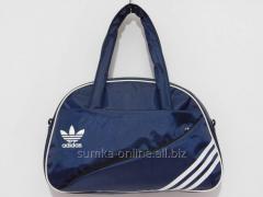 Сумка текстильная спорт Adidas синий с белым