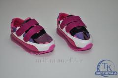 Кроссовки кожаные для девочки (с подсветкой)