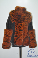 Куртка женская с натурального меха (мутон+писец)