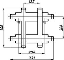 Коллектор котельной СК-172.125 с выходом вверх и