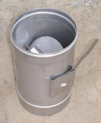 The regulator of draft of a flue from stainless