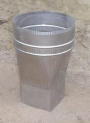 Adapter for chimney pipes from stainless steel