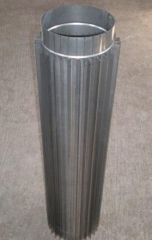 Smoke pipe radiator for fireplaces
