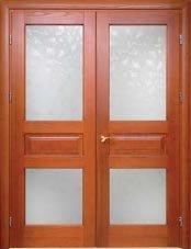 Door wooden of an oak