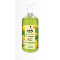 Домашнее мыло Агафьи «Мятно - лимонное», 1000 мл.