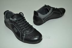 Туфли мужские (цвет чёрный) из натуральной кожи