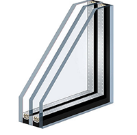 Double-glazed window 4-10-4-10-4
