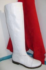 Белые сапоги СЛ 60