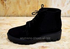 Black suede B 9 boots