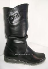 Black half boots of BL 49