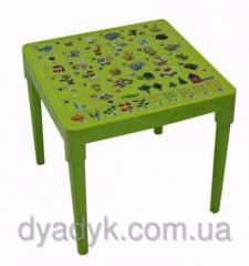 Table children's with drawing - the English