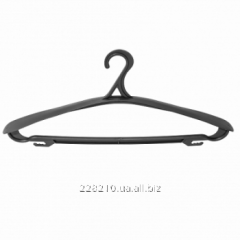 Coat hanger for clothes, To black wide
