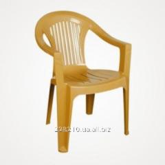 Chair plastic t - beige Bahar