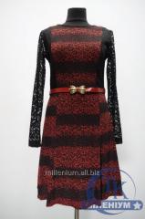 Платье + пояс женское 3/4 рукав Shesby 5043191