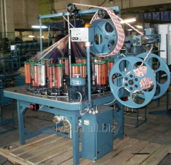 Cars for weaving of ropes