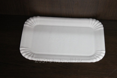 Plate cardboard disposable laminated