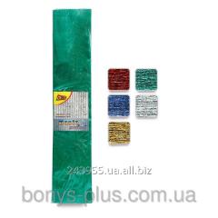 Бумага креп металлизир 50*200 см 20% 50 г/м2 ,