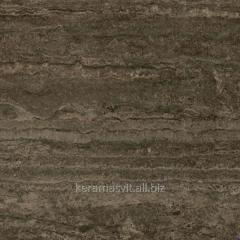 He tile of InterCerama STORIA dark is brown 43x43