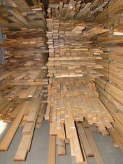 Tikovy lath for deck coverings