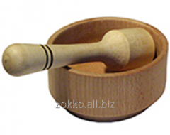 Mortar and pestle for a grinding of spices, an