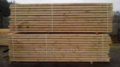 Брус сосновый 75Х95х1000-6000  естественной влажности, AD
