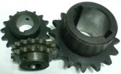 Gear wheels, wheels, laths gear. Tooth gearings,
