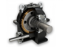 The worm motor - reducer