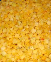 The peach frozen cubes