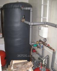 Heataccumulator of 1250 liters