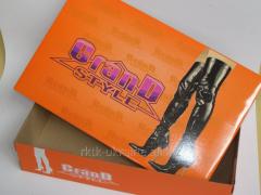 Обувной коробок с отдельной крышкой