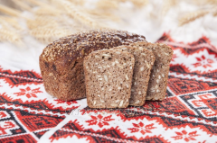 Kernel bread from germinated grains of whea