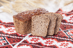 Buckwheat bread from germinated grains of whea