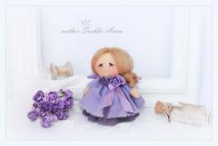Текстильная куколка малышка. ангелок ручной работы