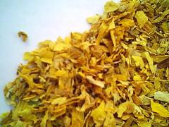 Sunflower petals dried