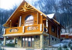 Cottages wooden in Ukraine