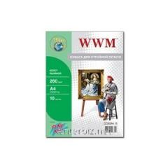 Canvas WWM natural cotton Fine Art, 260 g/m2, A4,