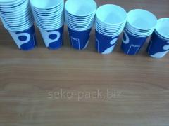 Glass of one-times. Cardboard 175 ml