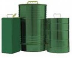 Classical cylindrical capacity for oil with cover