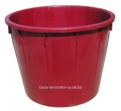 The tub color red capacity - 210 liters, the size