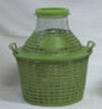 Бутыль-демиджон с широким горлышком и пластиковой крышкой Итальянское стекло. Объем - 10 литров